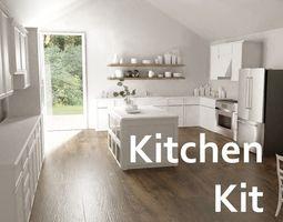 3D model interior refrigerator Kitchen