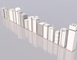 Skyscraper city 3D asset