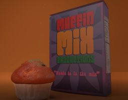 Animated Muffin and Cereal Box 3D