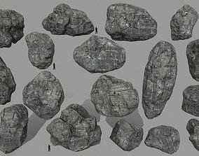 cliff rock set 3D asset realtime