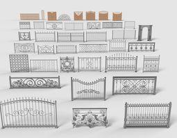 3D model Fences - 39 pieces - collection-4