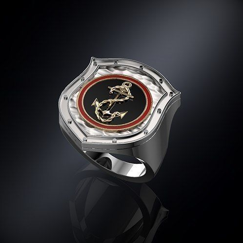 Ring shield whit anchor
