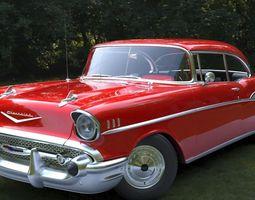 3D asset Chevrolet Bel Air 1957