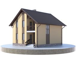 Residential house BP-32 3D