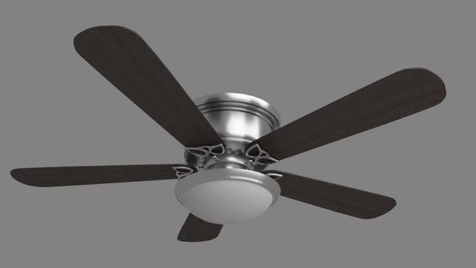 ceiling fan 3d model obj mtl fbx stl blend 1