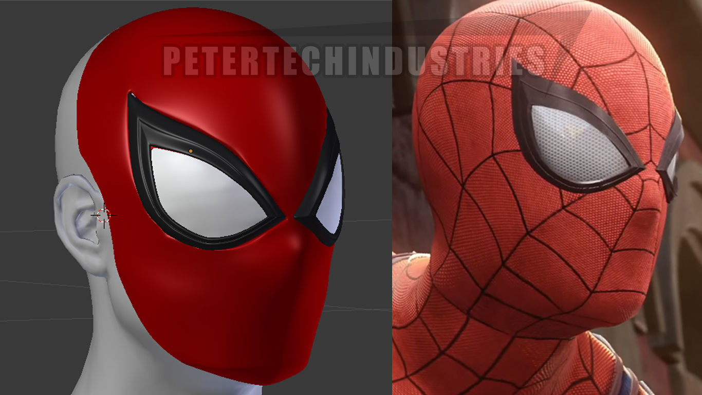 Spiderman PS4 Faceshell Lenses New Version