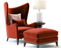 Monroe Armchair Red 3D model