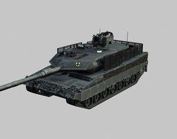 Leopard 2A6 main battle tank 3D asset
