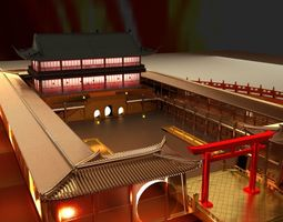 3D oriental Chinese house