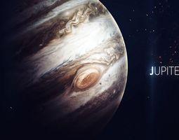 Jupiter and its 4 moons 3D model