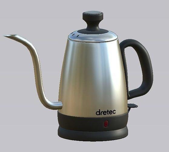 dretec kettle 3d model obj mtl fbx blend dae spp gltf glb 1