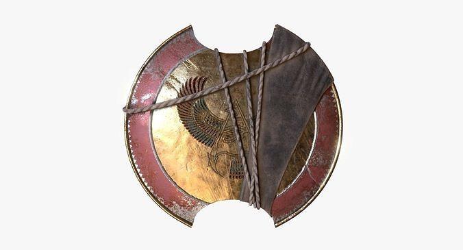 Bayek Shield Fan Art 3d Model Cgtrader