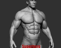 3D model Superhero Basemesh