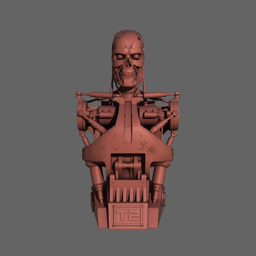 terminator t-800 torso bust for 3d printing 3d model max obj mtl 3ds fbx stl 1