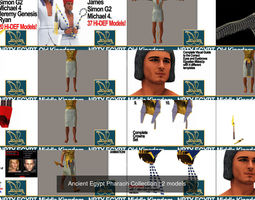 Ancient Egypt Pharaoh Collection 3D