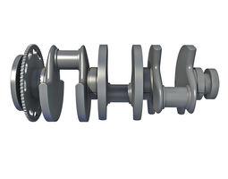 3D model Crankshaft V6 Engine