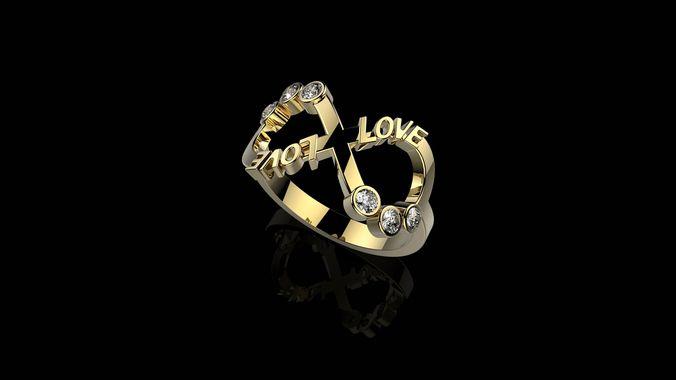 a rings n 35 3d model stl 3dm 1