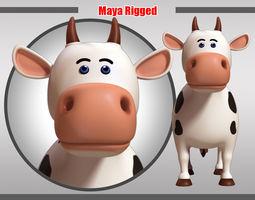 Cow Rigged 3D asset