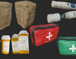 3D asset First Aid Collection PBR