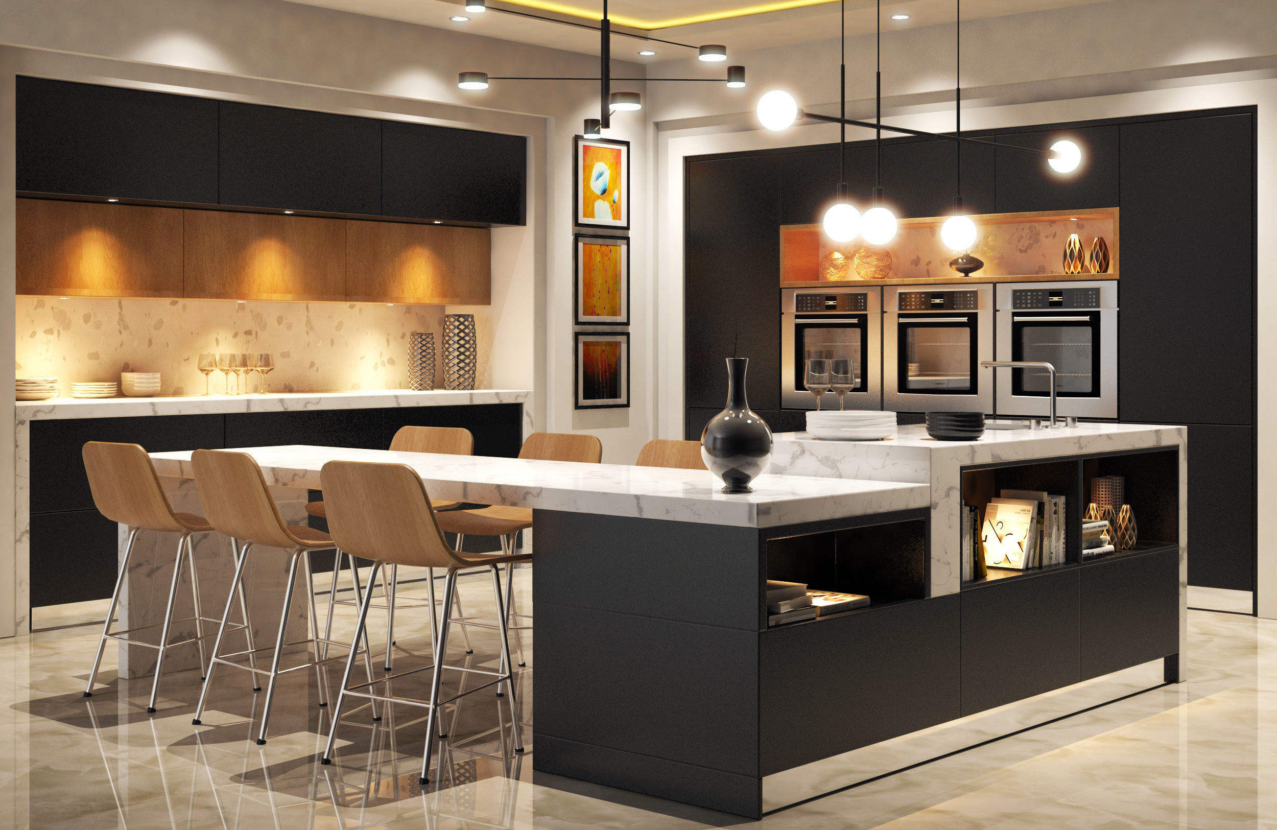Model House Modern Kitchen Cgtrader