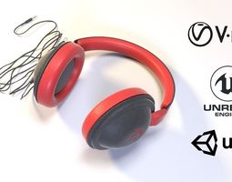 Full size headphones 3D asset