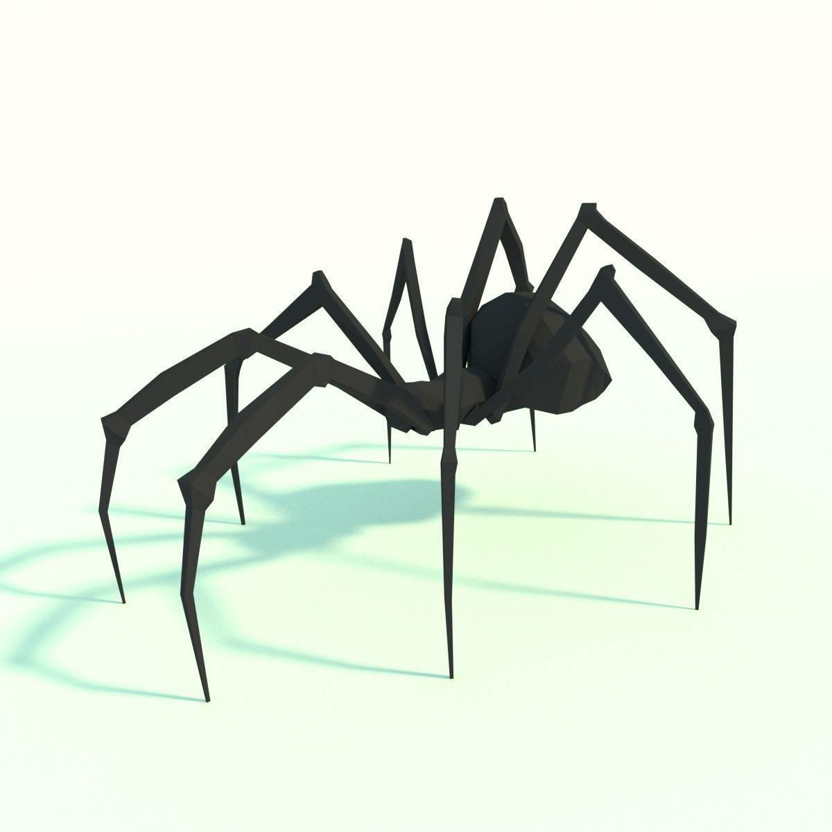 Low Poly Spider Model