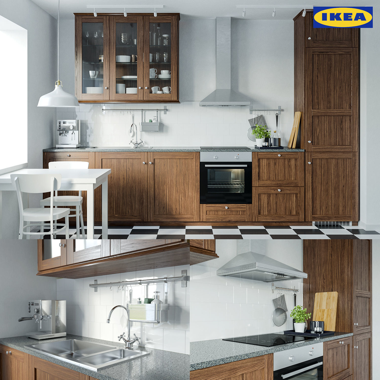 Ikea Edserum Kitchen Set 3d Model