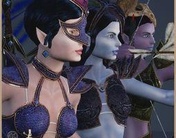 3D asset Elven Sisters