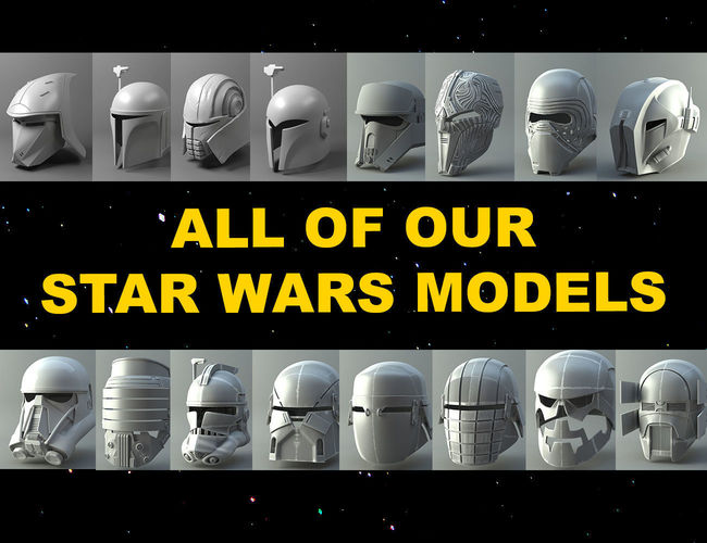 star wars - all our 3demon models 3d model obj mtl fbx stl dae ply abc 1