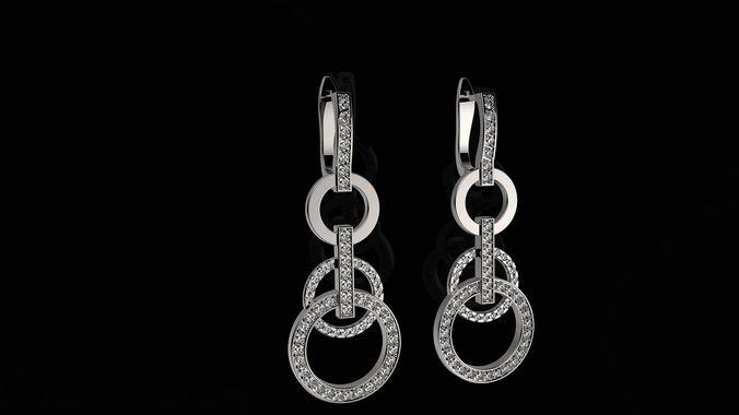 b earrings n2 3d model stl 3dm 1