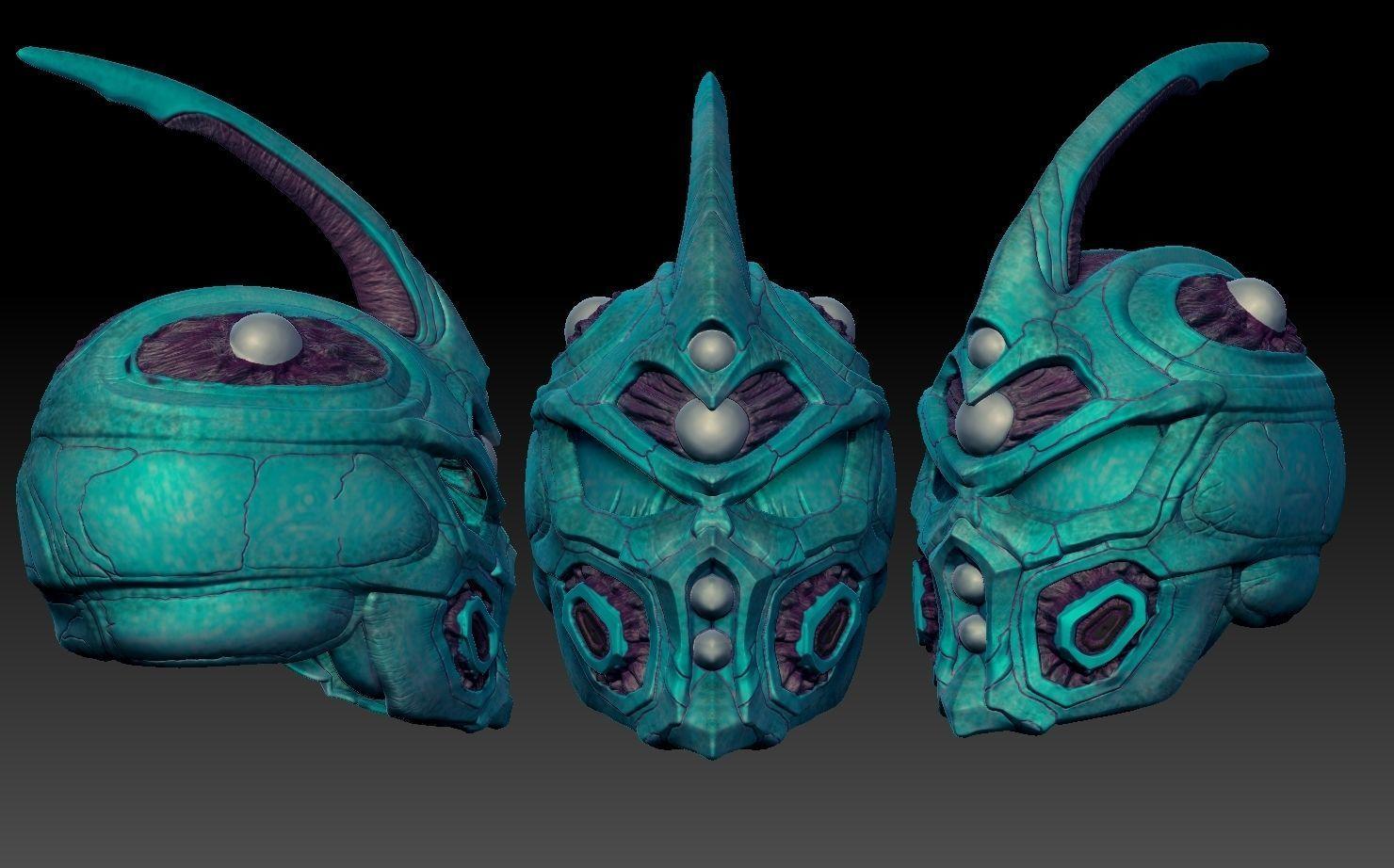 Guyver inspired helmet 3d print | 3D Print Model