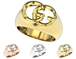 Gucci GG ring 3d printable model Fashion jewelry stl 3dm