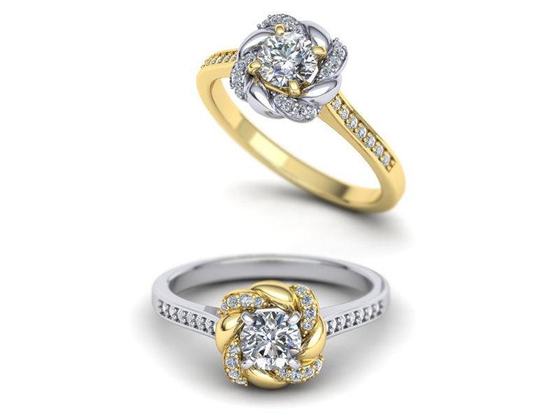 Paradise design Halo ring Own design  N10309