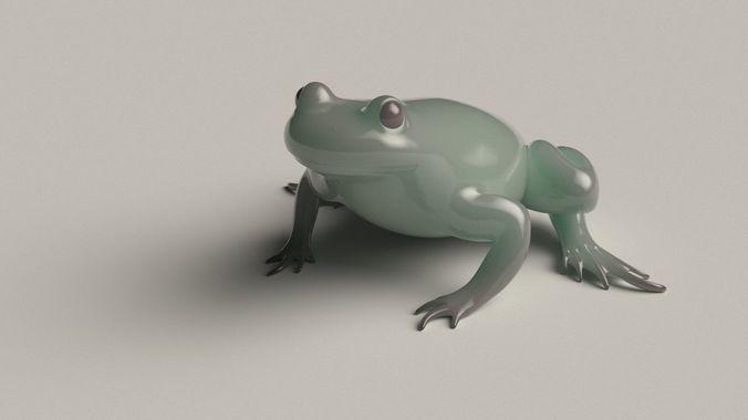 frog basemesh version b - 5 k tris 3d model obj mtl fbx blend ztl hda hip bgeo geo bclip clip hipnc 1