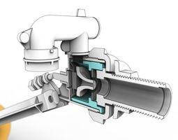 Side Entry Toilet Fill Valve 3D model
