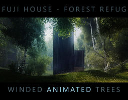 animated FUJI House Forest Refuge - Third and Seventh 3D 1