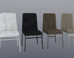 chair Modern Chair leather 3D model