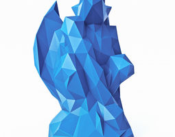 3D model Gargoyle Low Poly