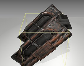Futuristic Stairs - 23 - Rusty Textures 3D model