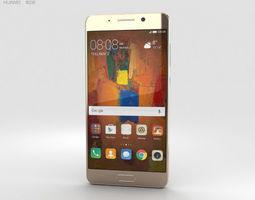 3D model Huawei Mate 9 Pro Haze Gold