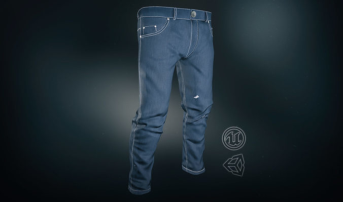 7bb24301dfd7 blue jeans pants 3d model low-poly max obj mtl fbx ma mb mel tbscene