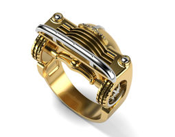 3D printable model 1950 Chevy Ring