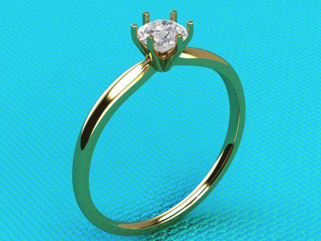 ring with brilliant 3d model obj mtl 3ds stl 1
