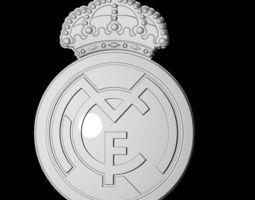 Real Madrid Football 3D Logo SpainFootball