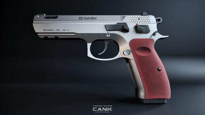 canik 55 shark fc 3d model max obj mtl 3ds fbx 1
