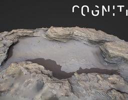 Iceland Tidal rocks 3D