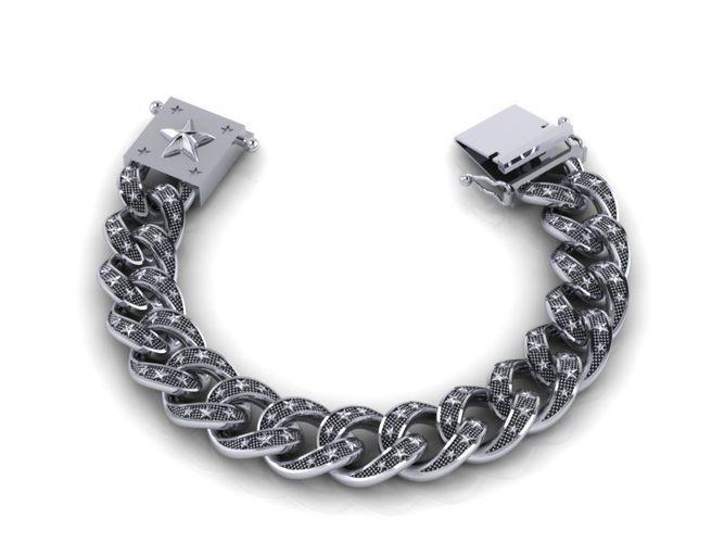 chain bracelets 03 3d model obj mtl 3ds fbx stl 3dm 1