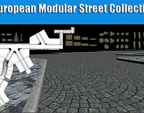 European Modular Street Collection - Low Poly game-ready 1