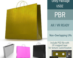 Shopping Bag - 4 material variations 3D model low-poly