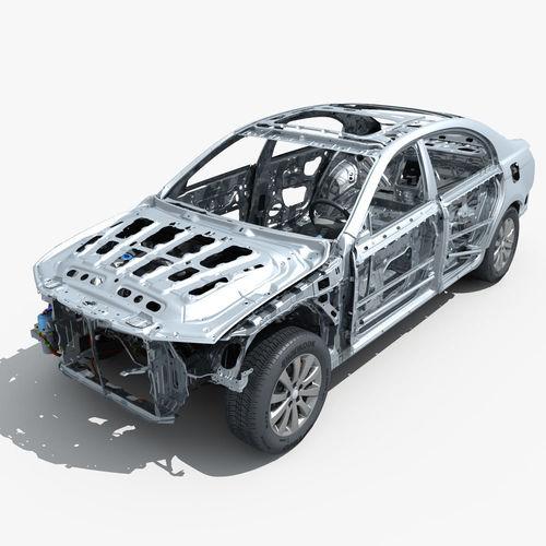 car frame with chassis engine 02 3d model max obj mtl fbx 1